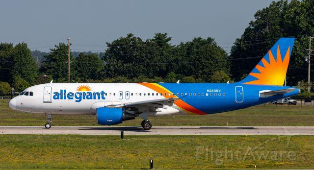 N233NV — - Allegiant 1760 departs Lexington's Bluegrass Airport for Ft. Lauderdale, FL USA.
