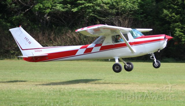 Cessna 152 (N48241) - A Cessna 152 II departing Moontown Airport, Brownsboro, AL during the EAA 190 Breakfast Fly-In - May 20, 2017.