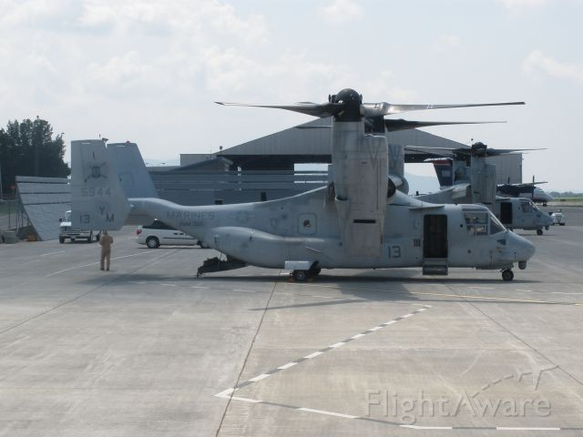 Bell V-22 Osprey (N5944) - A couple of V-22s that came through for the night to train in the mountains here in Va.
