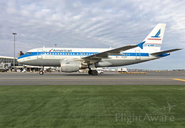 Airbus A319 (N744P) - AA - Piedmont retro A319