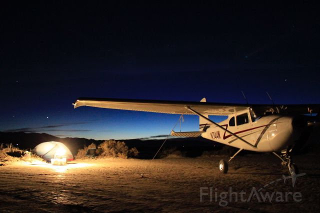 Cessna Skylane (N744W) - Twilight airplane camping