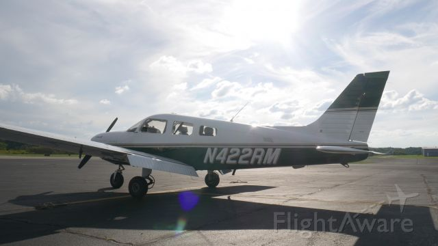 Piper Cherokee (N422RM) - N422RM on the ramp at Moore Aviation, KBVI.