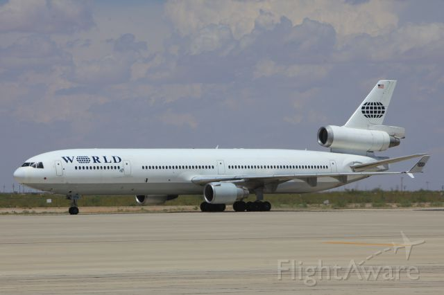 Boeing MD-11 (N273WA) - MD-11 at Biggs Army Airfield Aug 14 2013