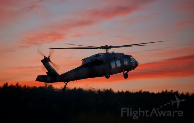 N284 — - Black Hawk at sunset.