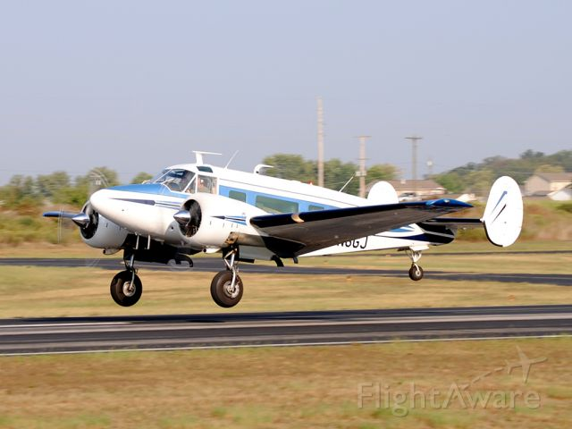 Beechcraft 18 (N6GJ) - Fully VIP configured, this Beech 18 was passing through on its way to Greensboro.