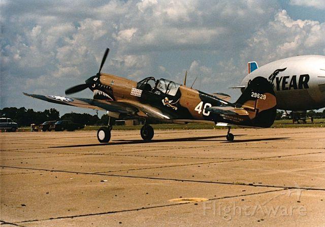 CURTISS Warhawk — - P-40 Warhawk taxing at a CAF Air Show