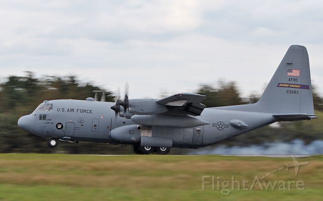"Lockheed C-130 Hercules (92-3283) - ""rch628"" usaf flying vikings c-130h 92-3283 landing at shannon this evening 6/5/19."