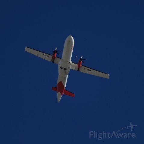 — — - ATR42 DE AVIANCA SOBREVOLANDO LA CIUDAD DE MAR DEL PLATA MDQ/SAZM