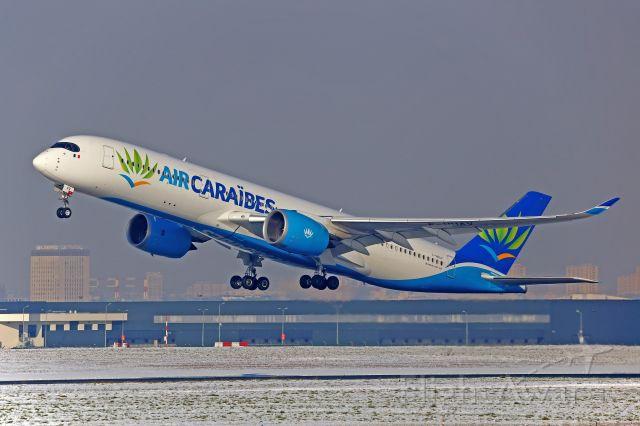 Airbus A350-900 (F-HHAV) - Neige à Orly en février 2018.Bord de piste 24/06.