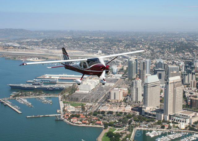 NEW GLASTAR Sportsman 2+2 (N259KC) - Formation photo flight over San Diego Bay