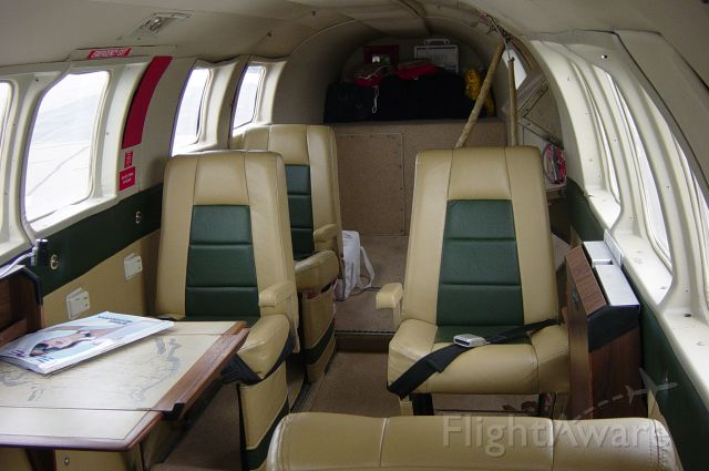 Beechcraft Queen Air (65) (C-FBOY) - Interior, lots of room for the whole family