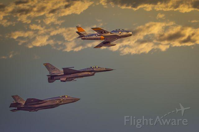 North American F-86 Sabre — - Three of the best. F086, F-16, F-22