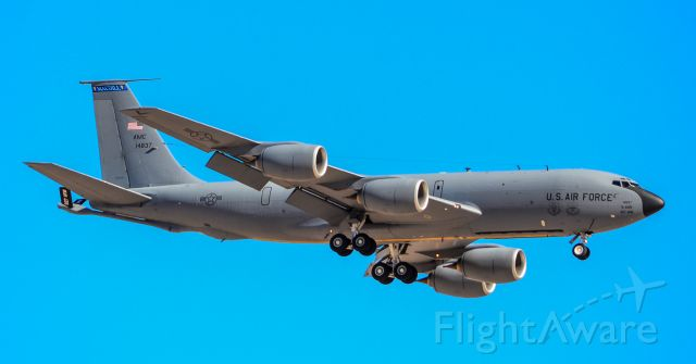 6414837 — - Boeing KC-135R Stratotanker 64-14837 927th Air Refueling Wing - 6th Air Mobility Wing - MacDill Air Force Base, Florida. <br /><br />Las Vegas - Nellis AFB (LSV / KLSV)<br />USA - Nevada, March 19, 2018<br />Photo: TDelCoro