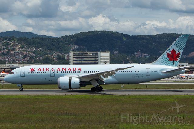 Boeing 787-8 (C-GHQY) - Air Canada - Boeing 787-8 Dreamliner<br />Registration: C-GHQY<br /><br />Toronto (YYZ) / São Paulo (GRU)<br /><br />Foto tirada em: 10/12/2016<br />Fotografia: Marcelo Luiz