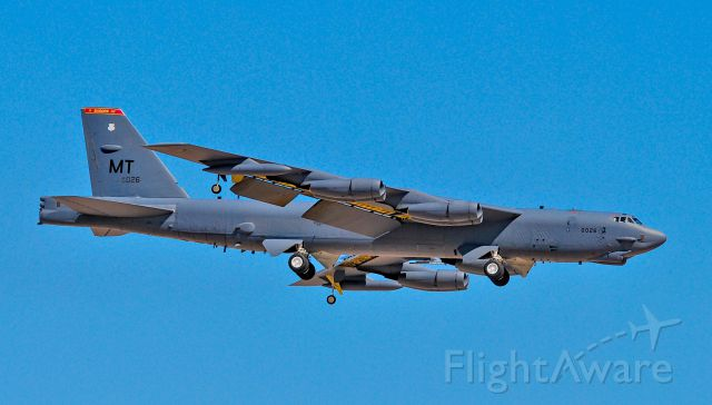"""Boeing B-52 Stratofortress (60-0026) - Boeing B-52H Stratofortress  60-0026 MT 23d Bomb Squadron (23 BS) """"Bomber Barons"""" -  Minot AFB, North Dakota <br /><br />Red Flag 16-3<br />Las Vegas - Nellis AFB (LSV / KLSV)<br />TDelCoro<br />July 26, 2016"""