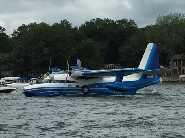 """N98TP — - Always a thrill when a seaplane comes to Okoboji.<br />(Taken 7-11-15 on West Lake Okoboji, Iowa. Here is an article about its 2014 visit: <a rel=""""nofollow"""" href=""""http://www.dickinsoncountynews.com/story/2098845.html"""">http://www.dickinsoncountynews.com/story/2098845.html</a>)"""