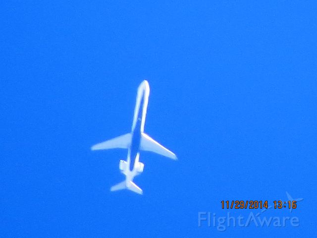 Canadair Regional Jet CRJ-900 (N294PQ) - Delta Connection flight 3359 from DTW to OKC over Baxter Springs Kansas (78KS) at 34,000 feet.
