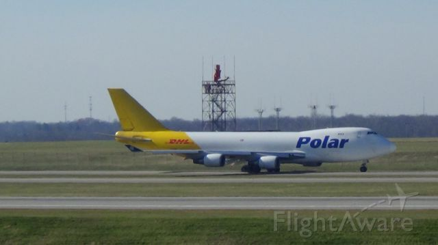Boeing 747-400 (N454PA) - Polar Cargo 973H departing runway 27 to Seoul Enchain 12:12P.M. at KCVG.   Photo taken November 25, 2015.
