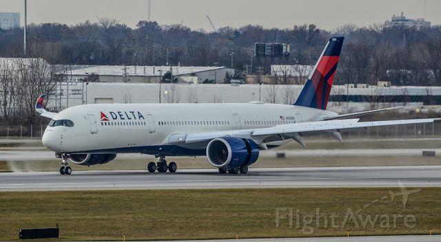 Airbus A350-900 (N503DN) - Delta crew training flight on landing roll at CMH.