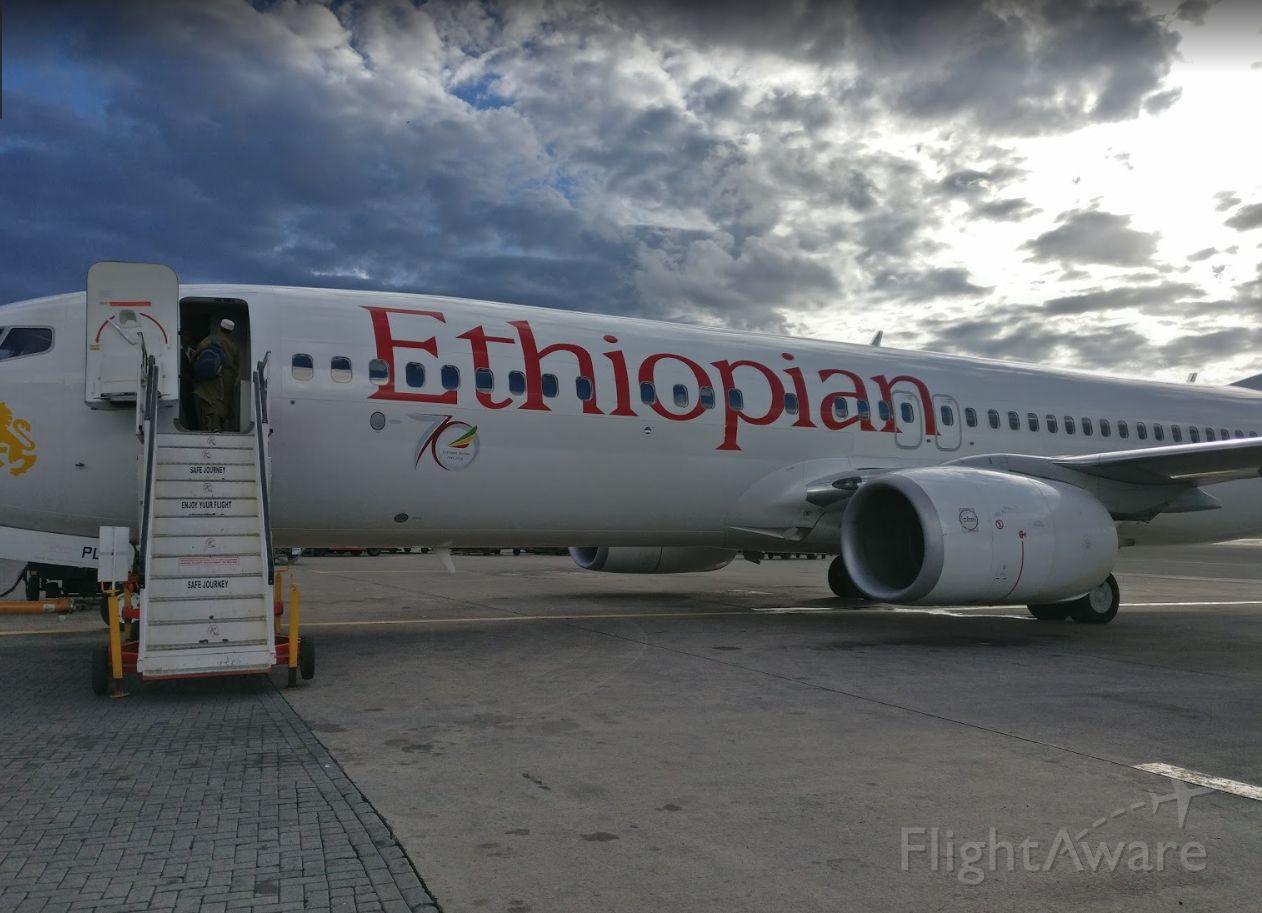 Boeing 737-800 (ET-APF) - After returning from Mek