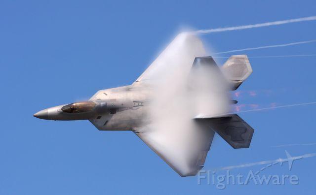 Lockheed F-22 Raptor (FF04071) - F-22 Raptor creating some vapor at the 2010 NAS Oceana Airshow.