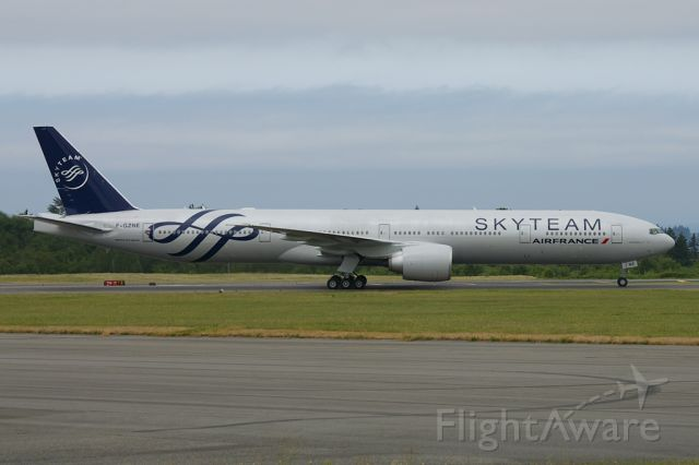 F-GZNE — - As with other members of the Skyteam Alliance, AirFrance has had this 777-300ER painted in the member color scheme of gray