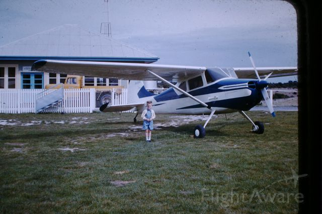 Cessna 170 (VH-BVA) - C170, BVA parked in front of aeradio, circa 1957