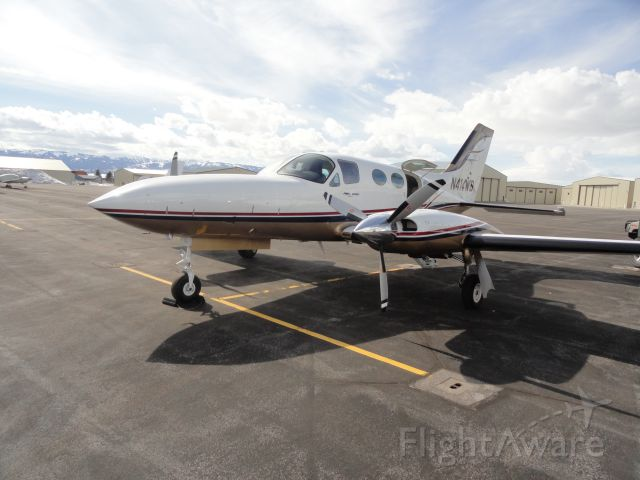 Cessna Chancellor (N414WB) - Taken in Driggs, ID  2011