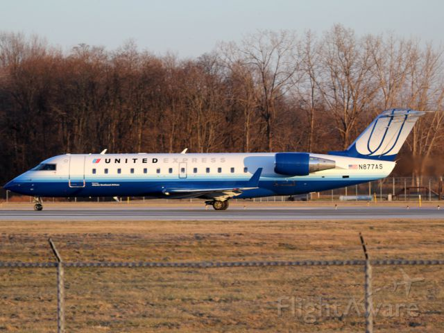 Canadair Regional Jet CRJ-200 (N877AS) - from ROC