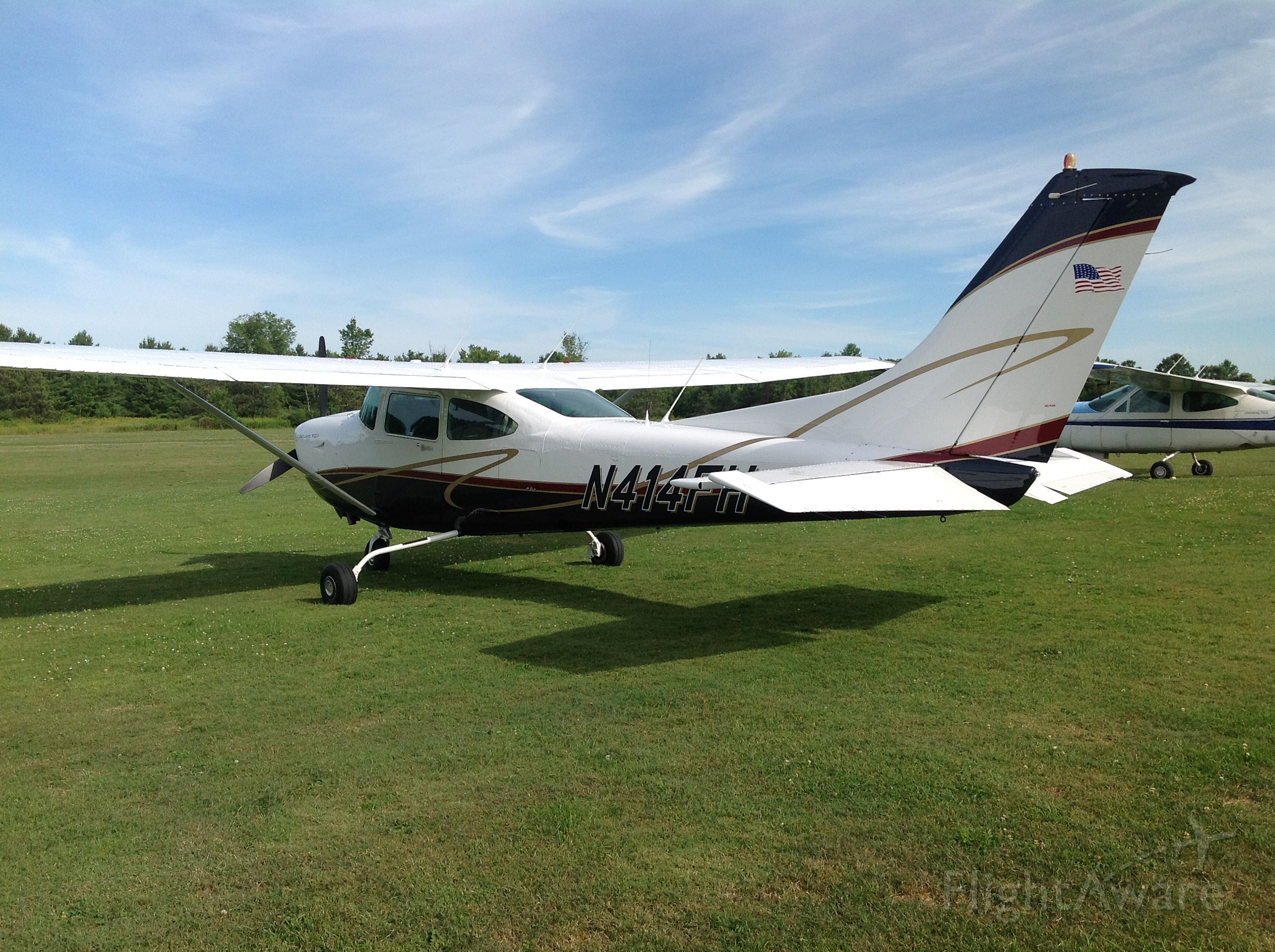 Cessna Skylane RG (N414FH) - Beautiful summer afternoon at Basin Harbor, Vermont