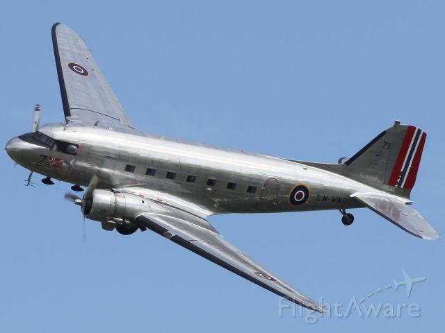 LN-WND — - The venerable, ubiquitous, and not to mention shiny, Douglas DC-3.