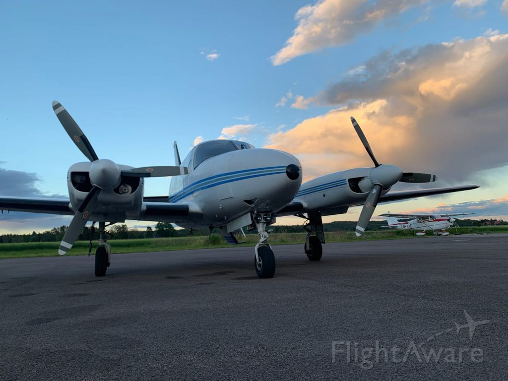 Piper Navajo (LN-TWB) - Outside Hangar 1 at ENJB Norway.