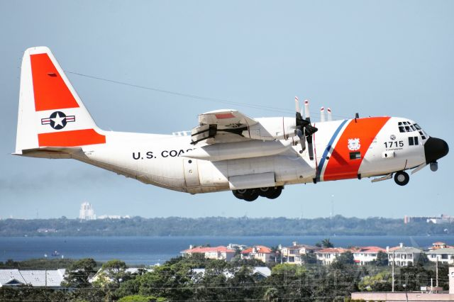 """Lockheed C-130 Hercules (C1715) - United States Coast Guard<br />Callsign: """"Coast Guard 1715""""<br />Aircraft: Lockheed MC-130H<br />Base: Air Station Clearwater"""