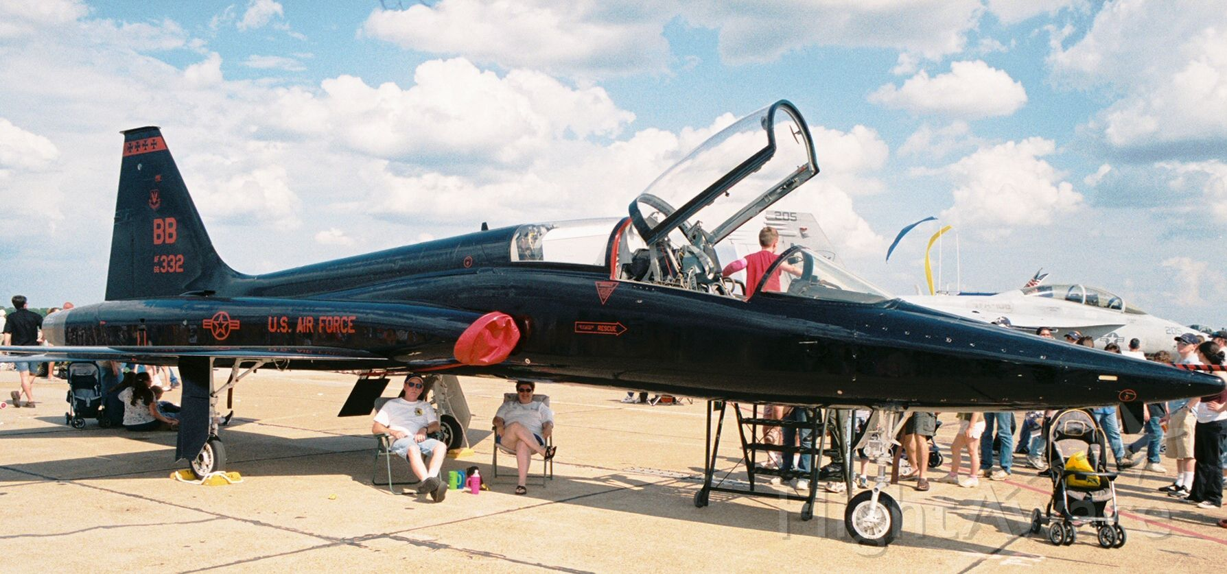 Northrop T-38 Talon (66-4332) - T-38A Talon, USAF s/n 66-4332, c/n N.5908, from the 9th Reconnaissance Wing, Beale AFB, photographed at the Barksdale AFB Airshow in 2005.