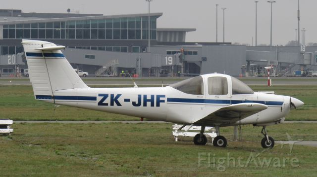 Piper Tomahawk (ZK-JHF) - Freezing her arse off at the aero club.