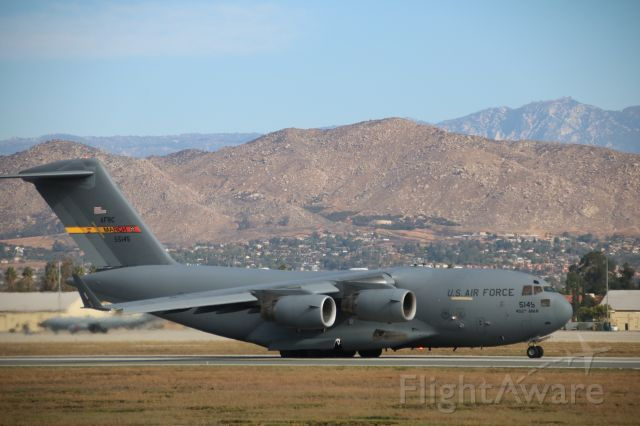 Boeing Globemaster III (N55145) - departing March ARB