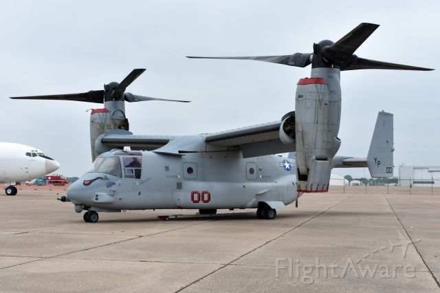 """16-8657 — - MV-22B from VMM-163. Complete with """"Evil Eyes"""" and an E-6B photobombing."""