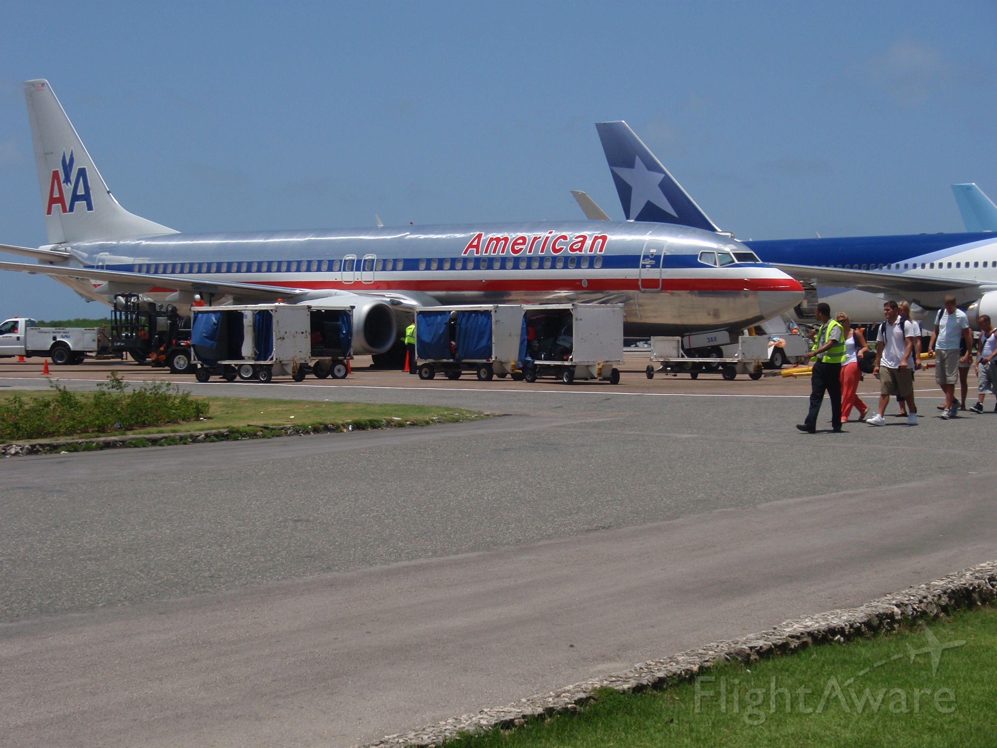 — — - Punta Cana, DR waiting to board flight.