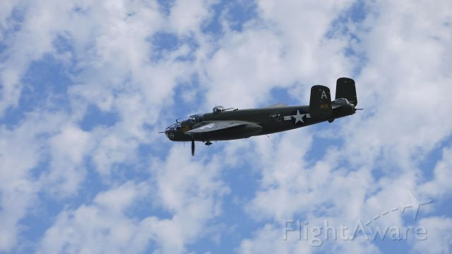 N41123 — - Flying Heritage Collections B25-J Mitchell bomber. Photographed at Fly Day 9/24/11.