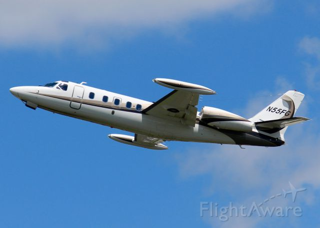 IAI 1124 Westwind (N55FG) - At Downtown Shreveport.