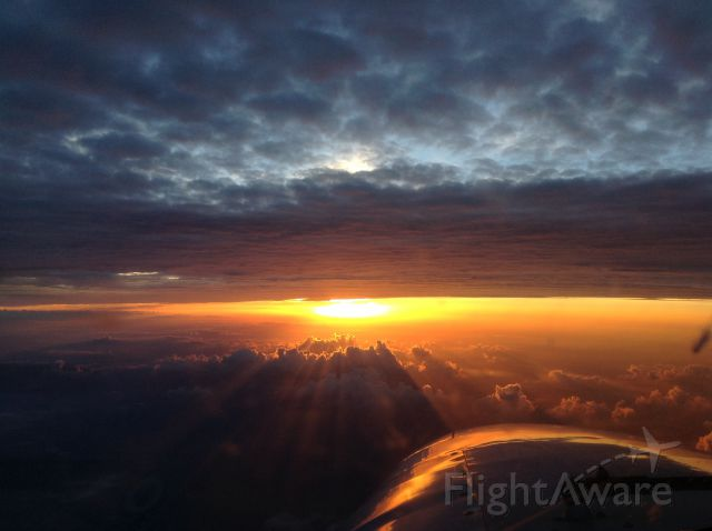 Piper Cheyenne 2 (N237PC) - Medevac sunset flight to OKC