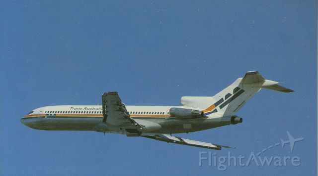 BOEING 727-200 (VH-TBI) - scanned from postcardbr /TAA