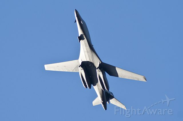 Rockwell Lancer (85-0088) - Took this picture as the B-1 bomber flew directly overhead over my house enroute to Rick Husband Int'l Airport.