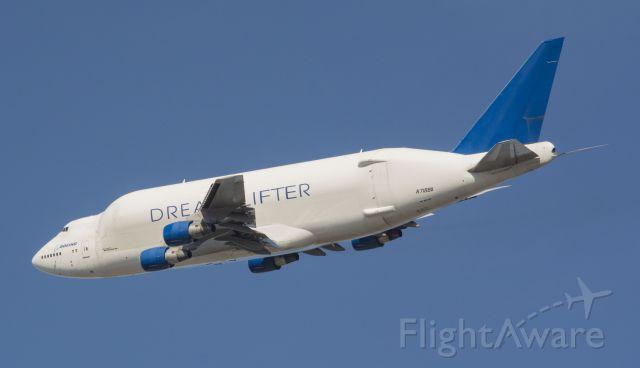 Boeing 747-400 (N718BA) - Departing  KCHS