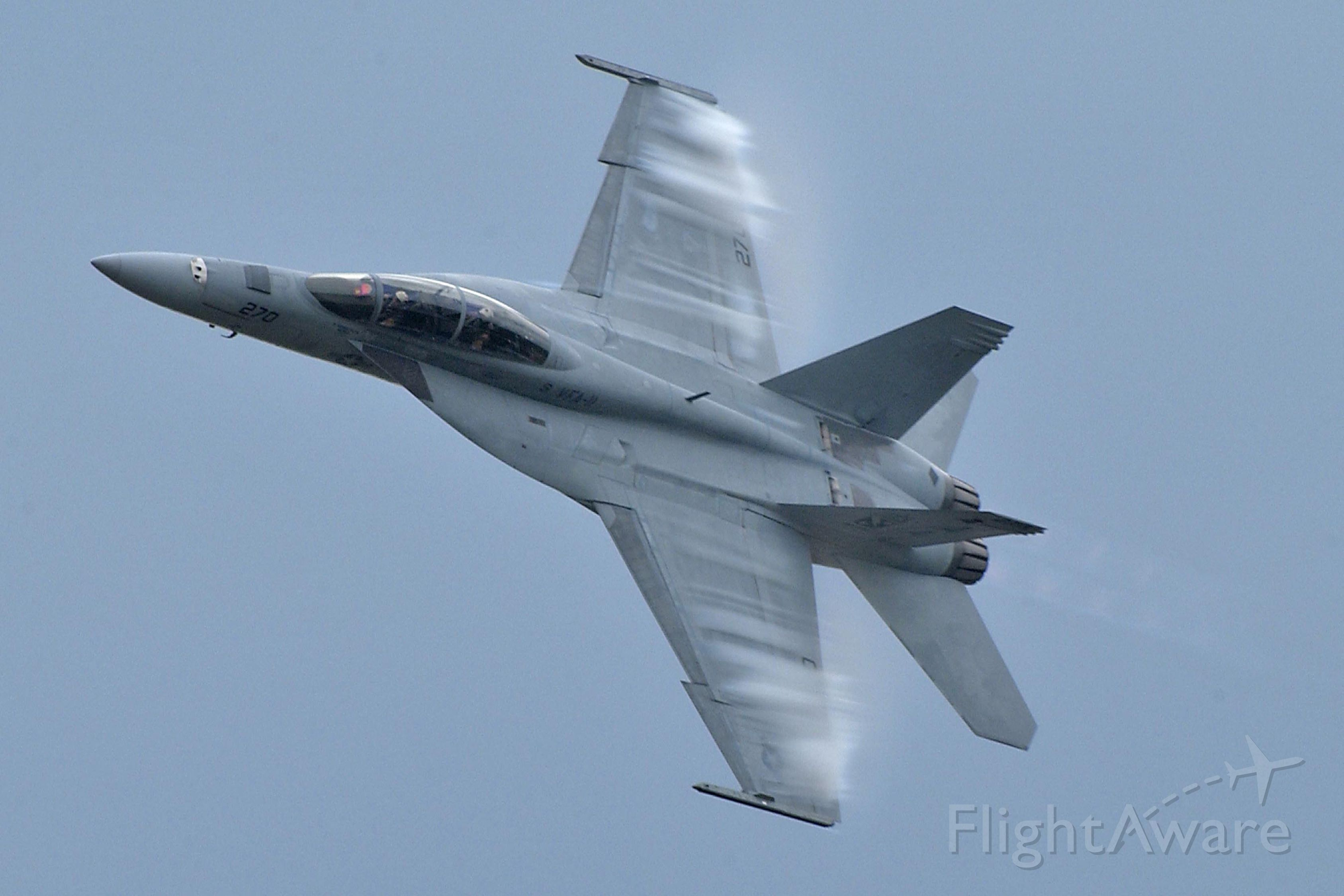 — — - F-18 In a high g turn at the Geneseo,NY Airshow