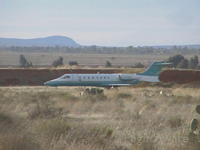 Learjet 45 (C-FSDL) - Taking off in runway 20 Zacatecas