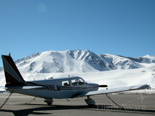 Piper Saratoga (N81LM) - Tied down at Mammoth Yosemite Airport
