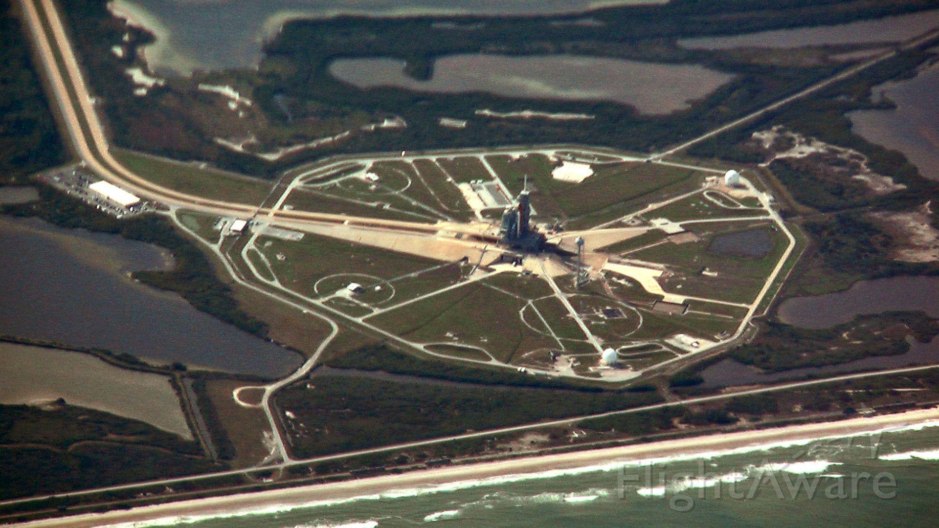 — — - Atlantis on pad 39A.