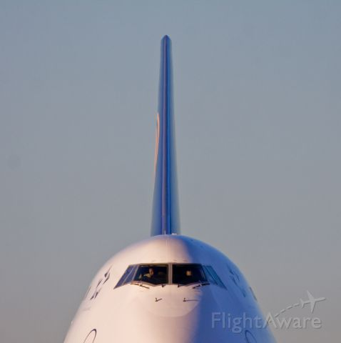 """Boeing 747-400 (D-ABVP) - I can hear the """"Jaws"""" soundtrack playing here... Lufthansa about to depart from YYZ!"""