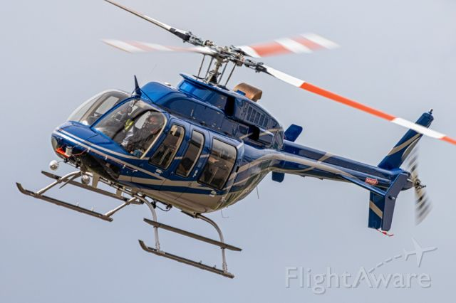Bell 407 (N410AP) - Returning to Eagle Copters after a test flight.